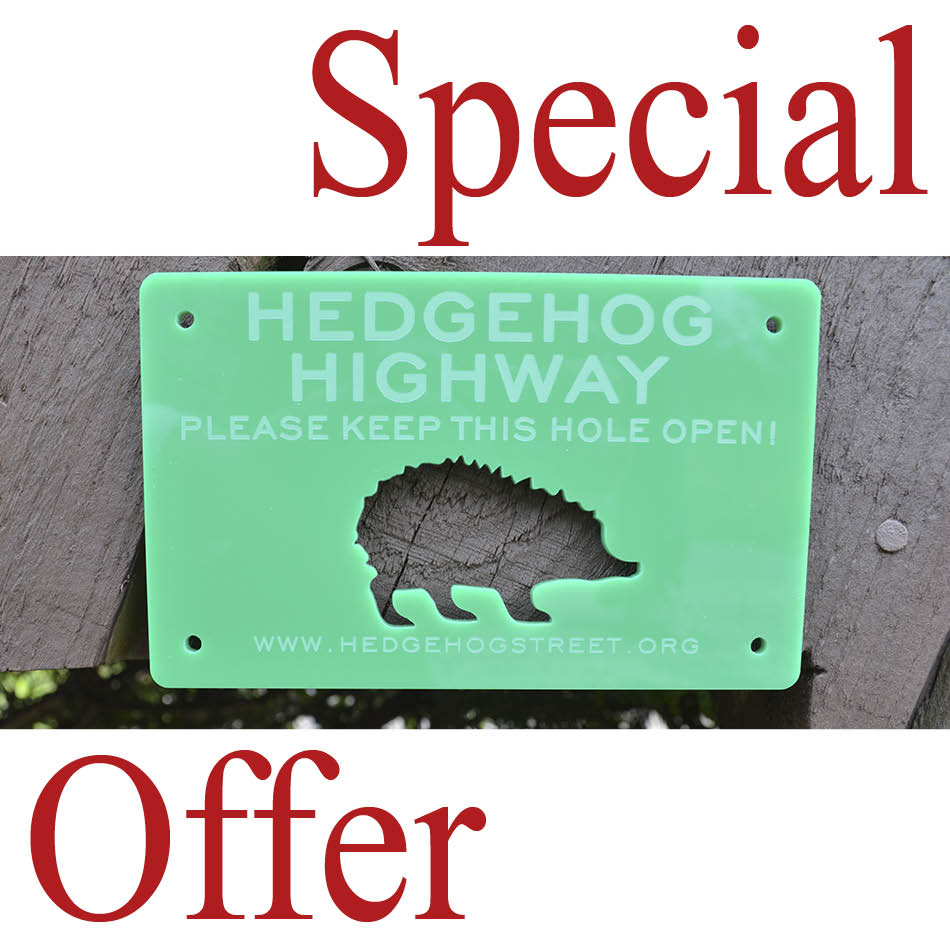 Hedgehog Highway Sign Offer