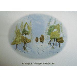 'Walking in a Winter Wonderland' single Christmas card