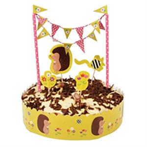Hedgehog Birthday cake decoration