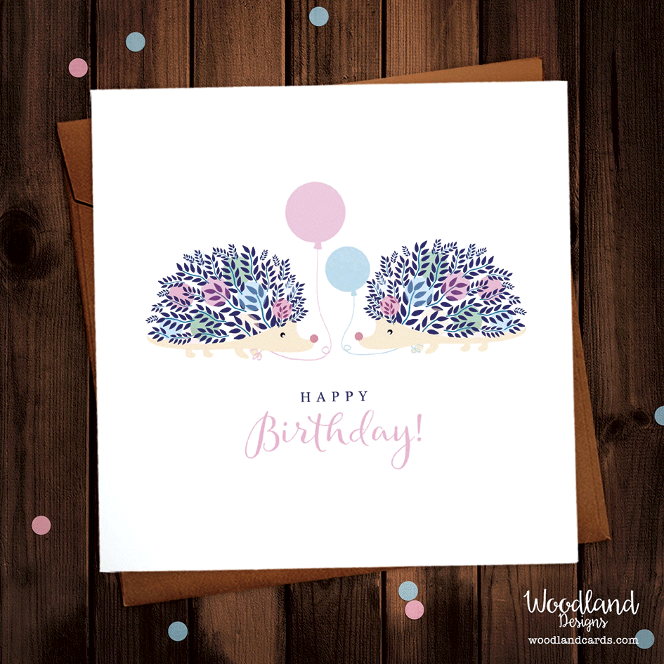 Hedgehog Happy Birthday Card