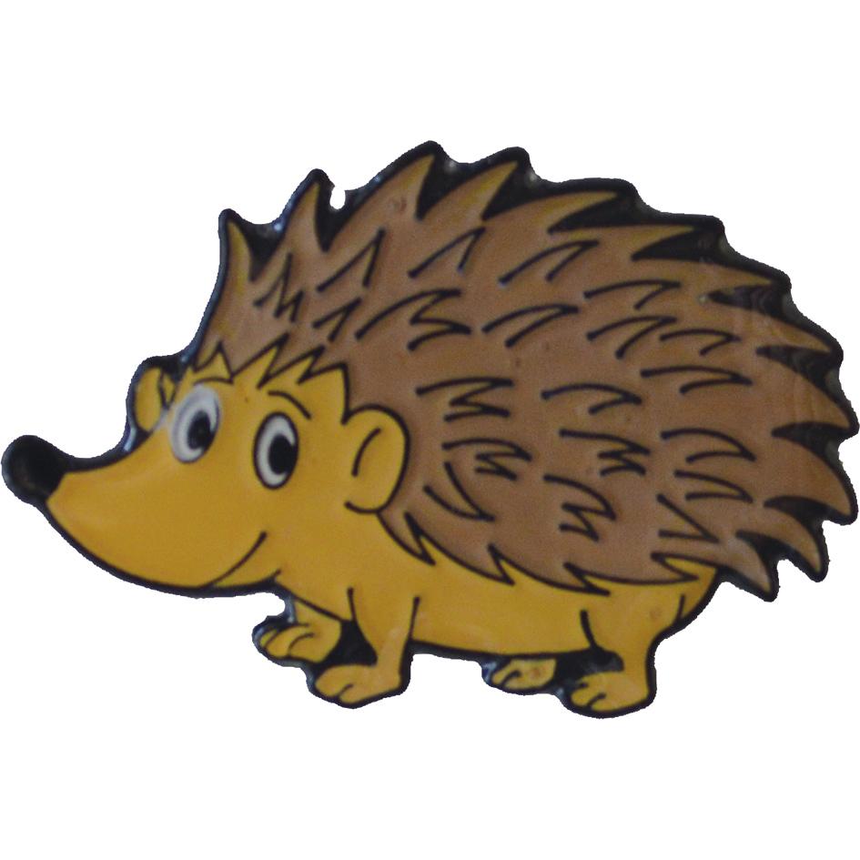 Animal charity badge Hedgehog pin badge V1 Spikey spiky Lapel badge