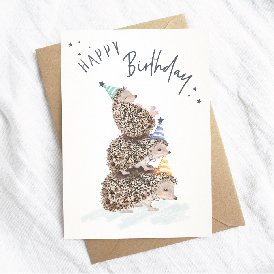 Groovy Birthday Card The British Hedgehog Preservation Society Online Shop Personalised Birthday Cards Paralily Jamesorg